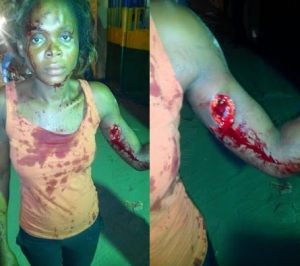 Photos: Couple arrested in Lekki for stabbing their neighbours with broken bottle
